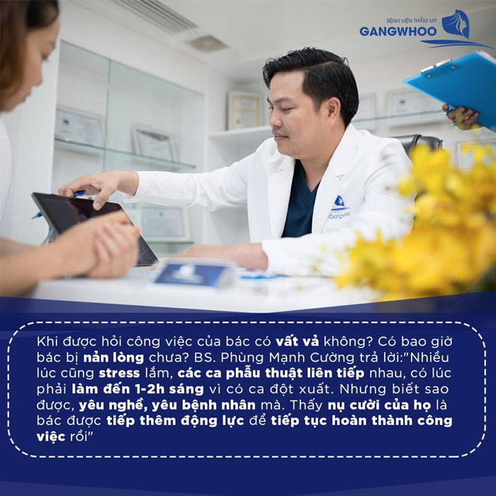 Bác sĩ Phùng Mạnh Cường là bác sĩ sửa mũi hỏng có tâm và có tầm